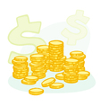 coin stacks vector image