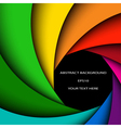 Colorful rainbow swirl vector image