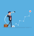 concept of profit growth businessman or manager vector image