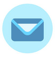 envelope icon mail post letter button on blue vector image