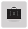 flat icon school bag vector image