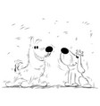 funny dogs for a walk vector image