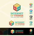 Internet of things logotype vector image