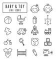 line icons babyamptoy vector image