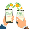 mobile money transferring banking concept vector image