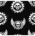 Rock skull music pattern vector image