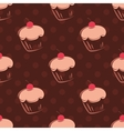 Seamless cupcake pattern or tile background vector image