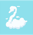 white fluffy cloud in form of beautiful fairytale vector image