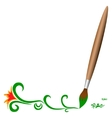 Wooden brush vector image