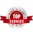 top service button vector image vector image
