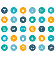 set of simple kitchen icons vector image