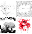set of floral background vector image