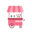 Icon of Stand of Ice Creams Sweet Cart Isolated vector image vector image