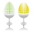 set of unusual easter eggs vector image