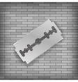 Realistic Razor Blade Icon vector image vector image