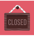 Closed Hanging Sign Icon vector image