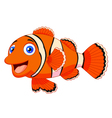 Cute clown fish cartoon vector image