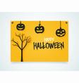 happy halloween poster pumpkins under the vector image