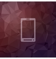 Mobile phone in flat style icon vector image