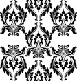 Classic floral black and white ornamented pattern vector image