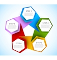 Abstract diagram with hexagons vector image