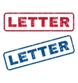 Letter Rubber Stamps vector image