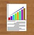 growing statistics chart vector image