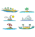 beach design elements vector image vector image