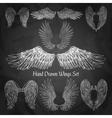 Wings Chalkboard Set vector image