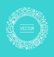 vintage frame in trendy linear frame for florist vector image