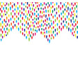 abstract droplet tiled border pattern spot vector image