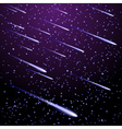 Background with meteor shower vector image
