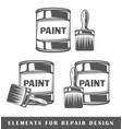 bank with paint and brush vector image