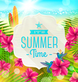 Banner with summer greeting vector image