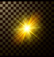 brilliant star shining design magical light with vector image