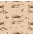 Cup of hot coffee seamless vector image