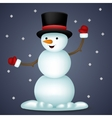 Happy Cartoon Snowman New Year Toy Character Icon vector image
