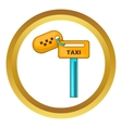 Keys to taxi icon vector image
