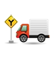 mini truck with fork road vector image