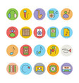 Music Colored Icons 7 vector image