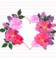 pink floral heart valentine day card vector image