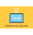 saas software as a service concept with laptop and vector image