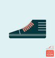 sneakers sports shoe symbol vector image