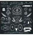 Vintage Bakery Labels element setHand sketched vector image