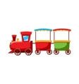 Children locomotive icon cartoon style vector image
