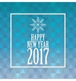 happy new year 2017 greeting card snowflakes and vector image
