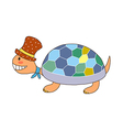 A turtle is placed vector image vector image