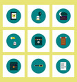 collection of icons in flat style halloween theme vector image