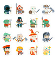 fantasy rpg game heroes villains minions character vector image