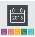 Calendar stroke icon vector image